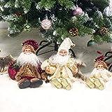 Happyyami Weihnachtsmann-Puppe-Weihnachten Ornament Dekoration Weihnachten Tisch Weihnachtsmann-Figur sitzt (rot) - 8