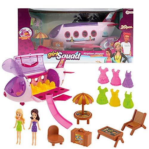 Toi-Toys Avión con 2 figuras y accesorios.
