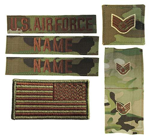 USAF OCP Name Tape Rank Insignia Package - O3-CAPT
