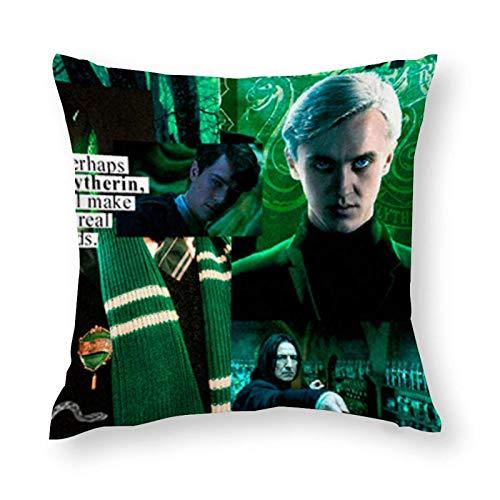 shenguang Draco-Malfoy Home Decor Square Throw Pillow Funda de Almohada para sofá, Coche, cojín de Asiento, Cama de hogar Decorativa 32 'y Tiempos; 32'