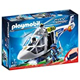 PLAYMOBIL City Action Helicóptero de Policía con Luces LED, a Partir...