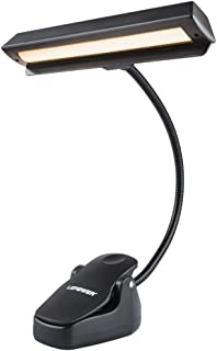 LEPOWER 14 LED Music Stand Lights, 3 Levels of Brightness Clip Lights, Rechargeable USB Book Reading Light, Full Charged for 11-Hour Using for Piano, Travel, Desk and Bed Headboard(Warm Light)