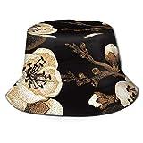 GodYo Bucket Hat Packable Reversible Estampado de Flores asiáticas Sun Hat Fisherman Hat Cap Outdoor Camping