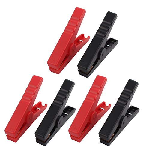 uxcell 3 Pairs Emergency Alligator Clamps Booster Battery Clips for Car Jump Starter Red Black