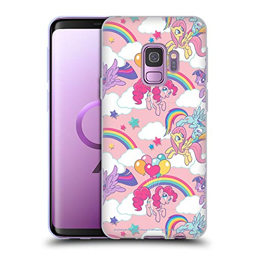 Head Case Designs Officially Licensed My Little Pony Rainbow Candy Clash Soft Gel Case Compatible with Samsung Galaxy S9