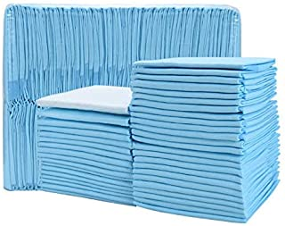 Timoo 100 PCS Disposable Changing Pad Leak-Proof Underpad Bed Table Protector Mat, Soft Non-Woven Fabric, 17 Inches x 13 I...