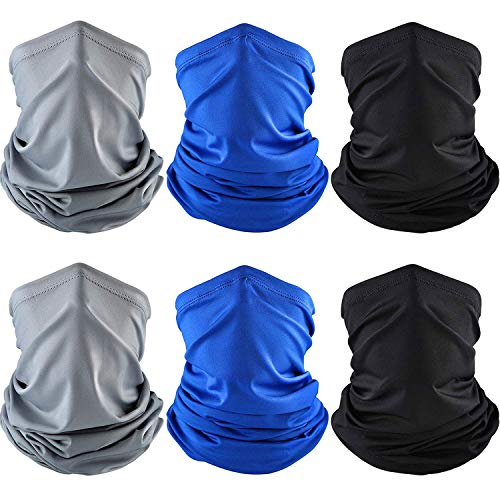 6 Pieces Summer UV Protection Face Clothing Neck Gaiter Scarf Sunscreen Breathable Bandana