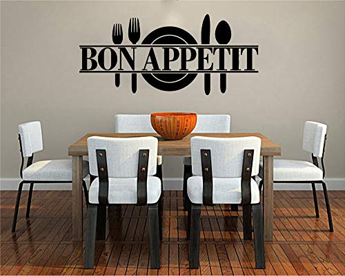 Food Wall Decals Posters Décor - Pizza Pasta Italian Cuisine Bon Appetit Art Décor Vinyl Stickers Pictures - Bar Restaurant Café Kitchen Decorations FO044