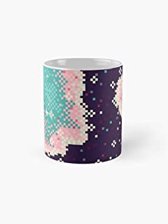 Pink And Mint Rift Galaxy 11Oz Mug - Great Gift For Family And Friends.
