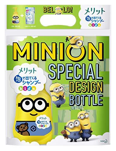 メリット 泡で出てくるシャンプー キッズ ミニオン スペシャルデザインボトル [ Minion Special Design Bot...