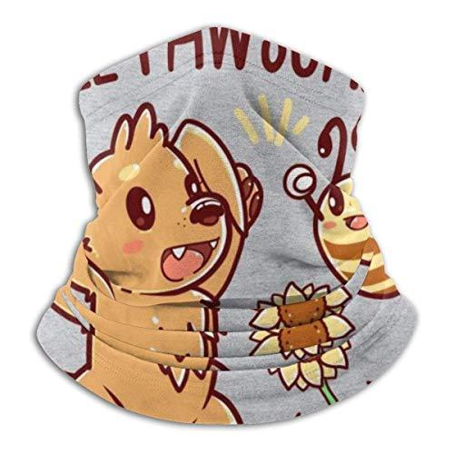 Calentador de cuello de abeja peón lindo perro colorido regalo de cumpleaños protector solar bandanas de pesca, cálido abrigo, sin costuras, para mujer, multifuncional, suave, resistente al viento