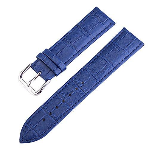 14mm Azul señoras de Las Muchachas Reloj de Pulsera Banda wirstband reemplazo de Pulsera de Cuero Genuino de la Piel de Becerro