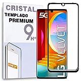 Protector de Pantalla Curvo para LG VELVET 5G, Negro, Cristal Vidrio Templado Premium, 3D / 4D / 5D
