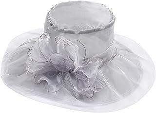 DOLDOA Hut Damen Sommer,Frauen Organza Kirche Kentucky Derby Fascinator Bridal Tea Party Hochzeit Hut