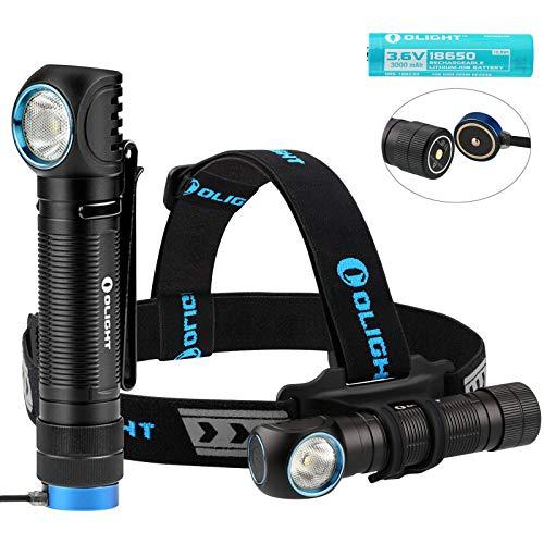 Olight H2R Lampade da Testa Potente 2300 lumens CREE XHP50 CW LED, Lampada Frontale USB Ricaricabile Impermeabile IPX8, con Batteria 18650+ Custodia della Batteria (Bianco Freddo)