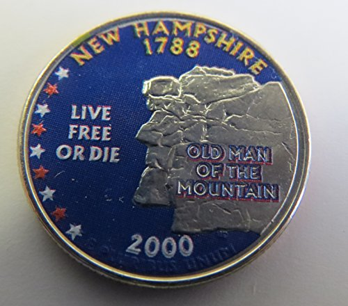 2000-Various-Mint-Marks-New-Hampshire-State-Colorized-Quarter-Choice-Uncirculated