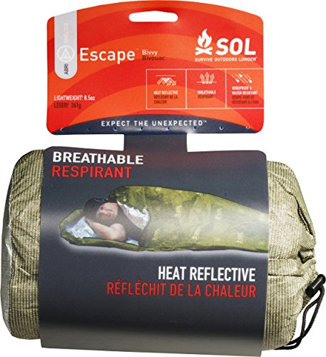 S.O.L. Survive Outdoors Longer S.O.L. 70% Reflective Escape Bivvy, Green