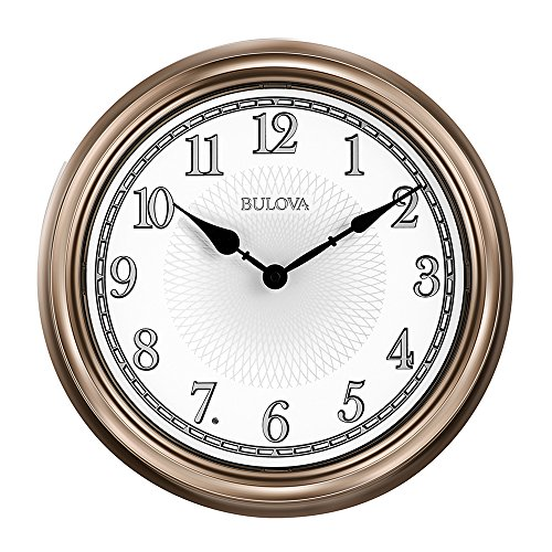 Bulova C4826 Light Time Wall Clock, Champagne