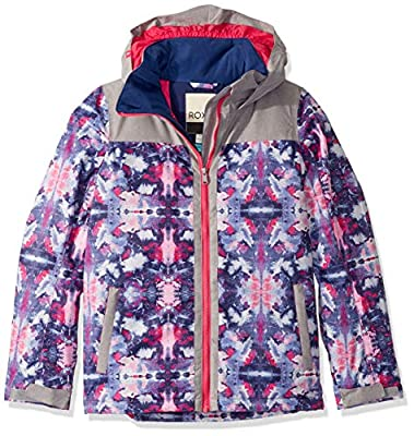 Roxy Snow Big Delski Girl Jacket, Medieval Blue Cloudy Day, 10/M