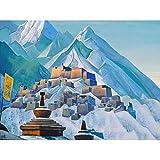 Roerich Tibet Himalaya Symbolist Berglandschaft Malerei