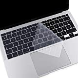 MOSISO Cubierta de Teclado Compatible con MacBook Air 13 2020 A2337 M1 A2179 con Touch ID, Mágico Retroiluminado Skin Piel de Silicona Protectora Impermeable a Prueba de Polvo,Transparente