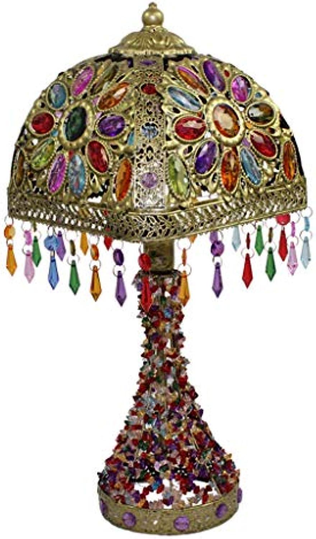 NACHTTISCHLAMPEN lixin Eisen Tischlampe Schlafzimmer Schlafsaal Kreative Tischlampe (Farbe   braun, gre   50  22cm)