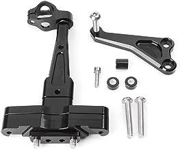 Motorbike Steering Damper Stabilizer Mounting Bracket Holder Kit for Honda CB650F CB 650F 2014 2015 2016 Aluminum (Black)