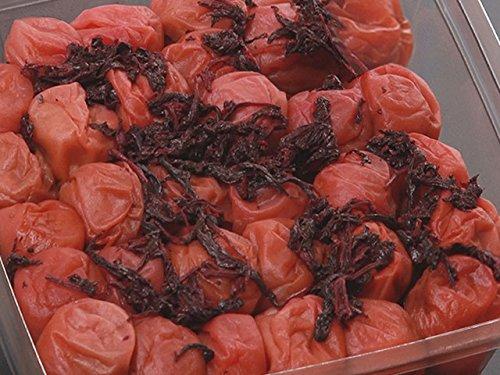 化学調味料不使用自然な味紀州南部産南高梅つぶれしそ漬け塩分10%800g