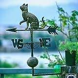 LXDDP Veleta de Hierro Forjado para Perros y Gatos, decoración de jardín, decoración de jardín, Veleta de Viento