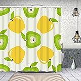 goodsaleA Duschvorhang,nahtloses Muster machte schöne Äpfel,Waschbar Shower Curtains Wasserdicht & mit 12 Ringe Bad Vorhang 150x180cm