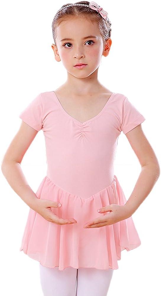 DANCEYOU Maillot Danza Niña Rosa Ropa para Ballet Niñas