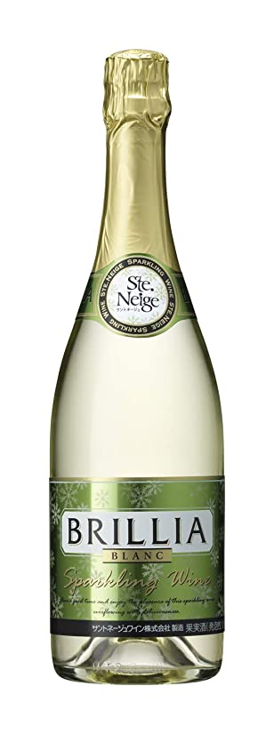 密接に最少間違えたスパークリングワイン ブリリア 白 [ スパークリング ライトボディ 日本 720ml ]