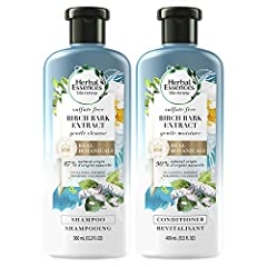 87% NATURAL ORIGIN SHAMPOO AND 90% NATURAL ORIGIN CONDITIONER made with real botanicals and natural source ingredient materials with limited processing & purified water GENTLE CLEANSE: This shampoo is crafted without sulfates to gently cleanse, smoot...