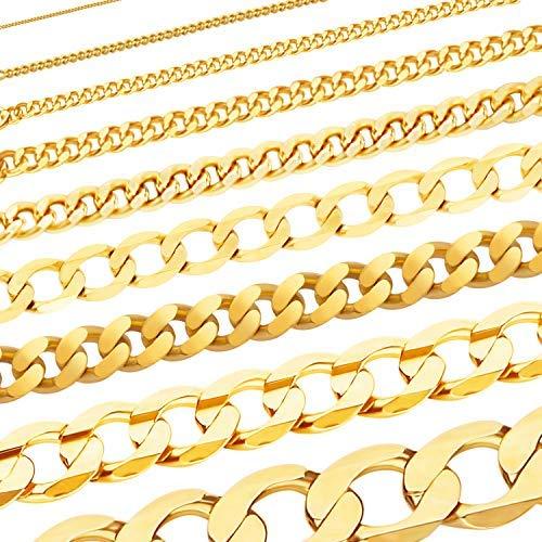 Massive edle Goldkette Panzerkette Halskette Collier Echt 333 Gold (42, 0,8 mm)