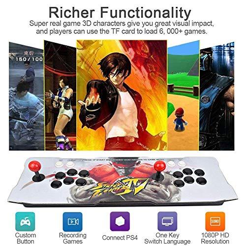 CHENGL Machine de Jeu vidéo Arcade 2350 Jeux Classiques, 2 Joueurs Joystick Arcade Console de Jeux Retro, 1920x1080 Full HD, Bouton personnalisé, Supporte PS3, Output de HDMI et VGA