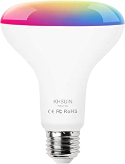 Smart Bulb, KHSUIN Smart Light Bulb Compatible with Alexa and Google Home, 9W 800 LM, E26 Base, No Hub Required, 2.4G(Not 5G) WiFi Light Bulbs
