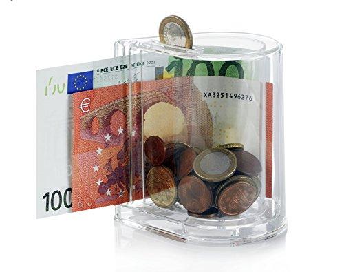 1360 Spardose Münzen & Noten - Sparschwein - Sammeldose