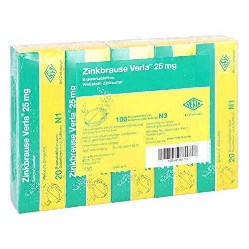 ZINKBRAUSE Verla 25 mg Brausetabletten 100 St