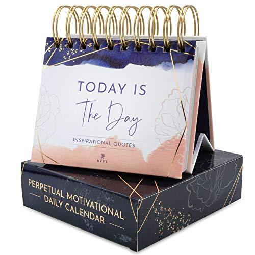 RYVE Motivational Calendar - Daily Flip Calendar with Inspirational Quotes - Inspirational Desk Decor for Women, Office Decor for Women Desk, Motivational Gifts for Women, Desk Accessories for Women