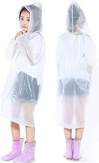 VECDY Impermeable para Ni/ños Conjuntos Ni/ña Impermeable Tops Moda Impermeables Port/átiles Reutilizables 1pc Ponchos De Lluvia para Ni/ños De 6-12 A/ños Duradero Fuerte Reutilizable