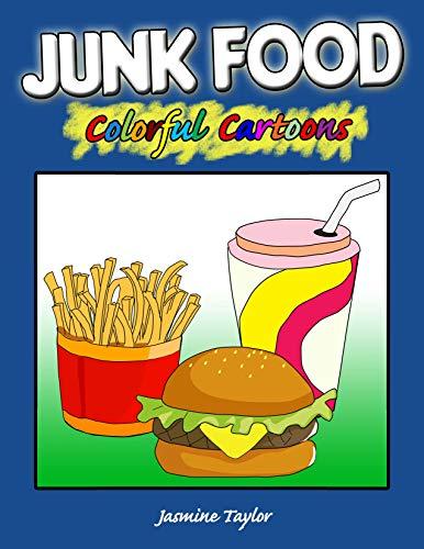 Junk Food Colorful Cartoon Illustrations (English Edition)
