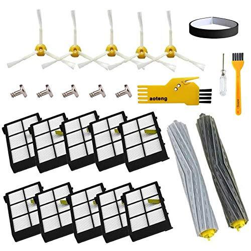 Accessorio per iRobot Roomba ruota di ruota + Filtro HEPA + Kit di Ricambio Spazzola laterale Per iRobot Roomba 800 860 870 880 980 Aspirapolvere accessori pezzi