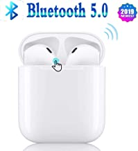 Wireless Earbuds Bluetooth 5.0/ with IPX5waterproof/3D Stereo Noise Reduction【 Smart touch/24Hrs Charging Case】 Pop-up Window/Compatible Apple iPhone airpod airpods Auto Pairing Fast Charging