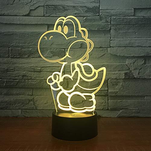 Luz de Noche para Perros LED Ilusión 3D 7 Colores Vestidor Decoración Luz Niño Niño Bebé Kit Lámpara de Mesa Cama Cabezal 11 Sin Controlador