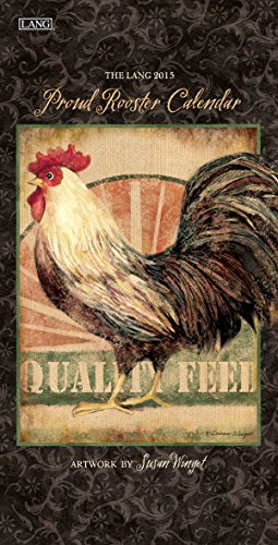 Lang January to December, 7.75 x 15.5 Inches, Perfect Timing Proud Rooster 2015 Vertical Wall Calendar Susan Winget (1079107)
