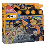 JCB Bagger- und Kipplaster-Spielset, 35-teilig
