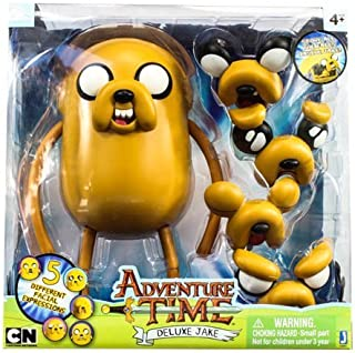 Adventure Time with Finn & Jake Deluxe Jake 10 inch with 5 different Facial Expressions Action Figure by Jazwares