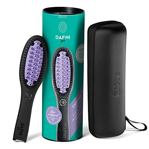 DAFNI go Hair Straightening Ceramic Brush (Purple)