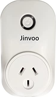 Jinvoo WiFi AU Smart Plug 10A Control by app, Compatible with iOS, Android, Works with Amazon Echo, Google Assistant, Time...
