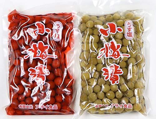 国産 カリカリ 小梅漬け 詰め合わせ 300g×2袋 塩分14% 小梅 カリカリ 3h